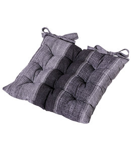 Madison Toscane kussen 46x46cm (Denim Stripe Grey)