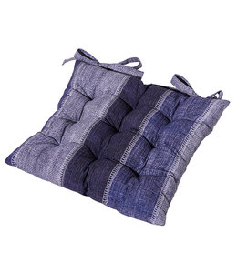 Madison Toscane kussen 46x46cm (Denim Stripe Blue)