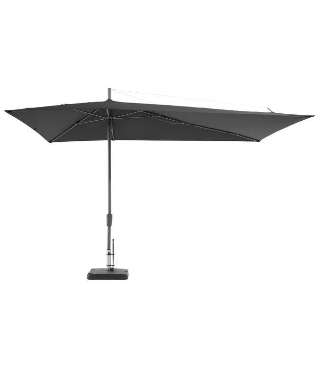 Madison Parasol Asymetric Sideway 220x360cm (Grey)