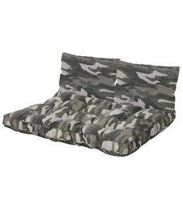 Madison Florance palletkussen Set ca. 120x80cm + rugkussens (Camouflage)