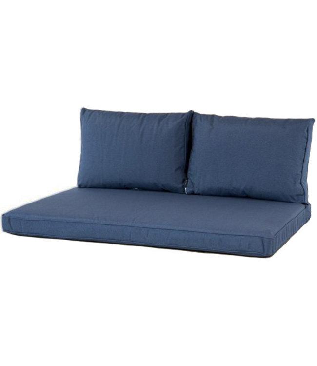 Madison Lounge palletkussen set ca. 120x80cm + rugkussens (Outdoor Panama Safier Blue)