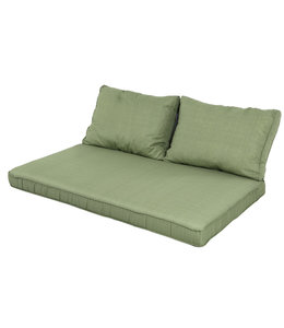 Madison Lounge palletkussen set ca. 120x80cm + rugkussens (Basic Green)
