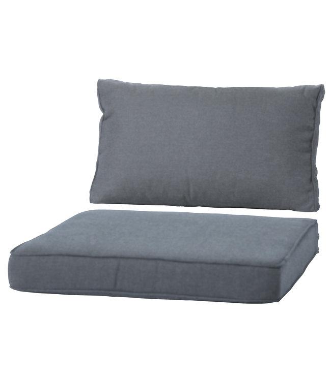 Madison Loungekussen Luxe set 73x73 + 73x40cm (Basic Grey)