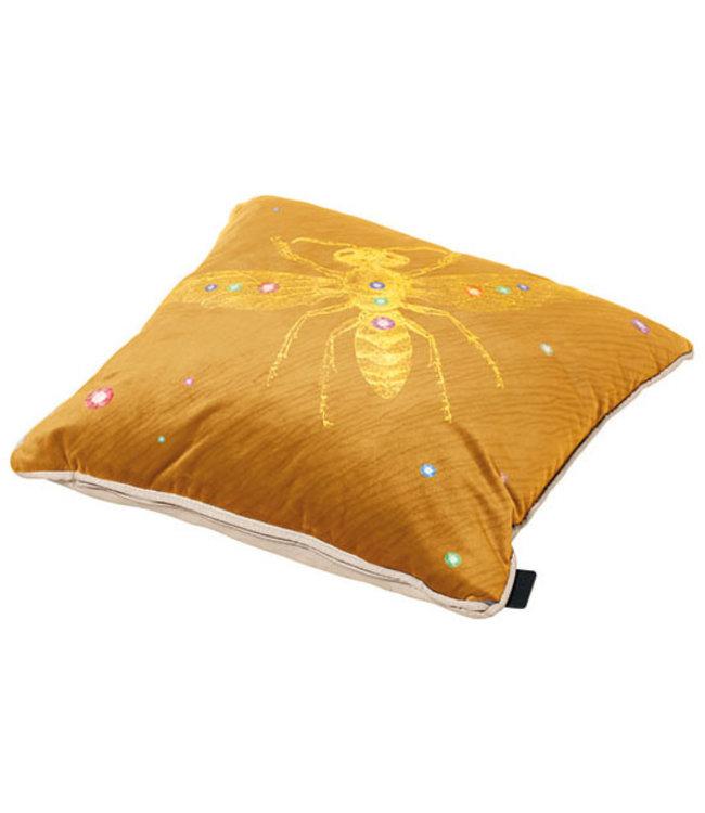 Madison Sierkussen Velvet Insect Yellow 45x45cm