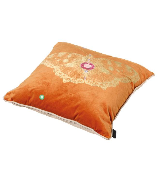 Madison Sierkussen Velvet Insect Orange 45x45cm