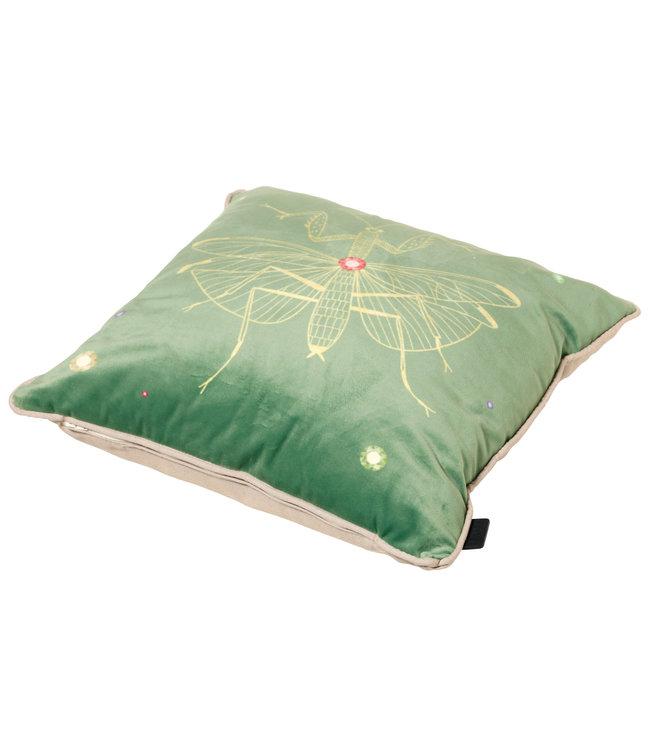 Madison Sierkussen Velvet Insect Green 45x45cm