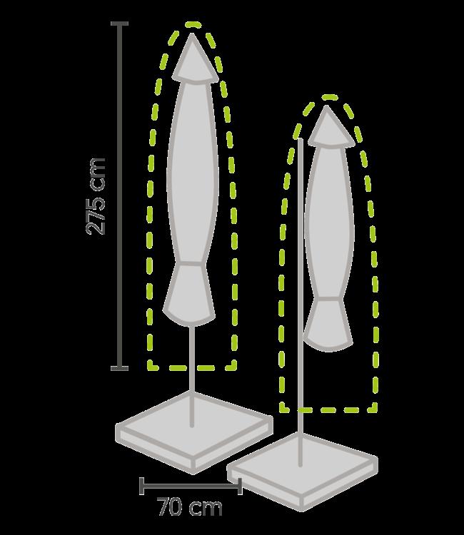 Outdoor Covers Parasol beschermhoes 250x64cm
