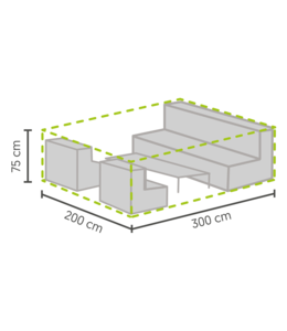 Outdoor Covers Premium Loungeset beschermhoes L 300x200x75cm