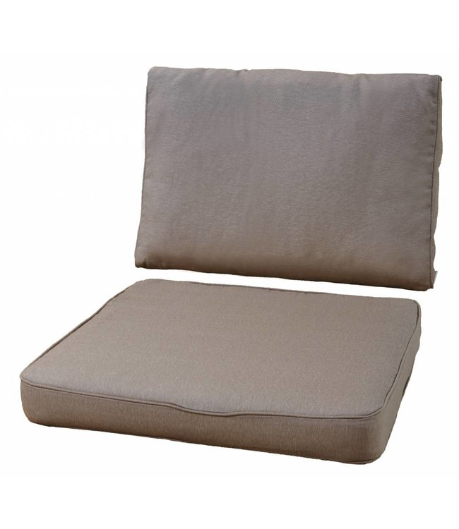 Loungekussens Pure Luxe 4 SETS 73x73 + 73x40cm (Panama Taupe) extra dik