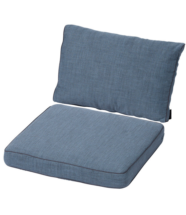 Madison Loungekussen set Luxe 60x60 + 60x40cm (Melange Premium Ice Blue)