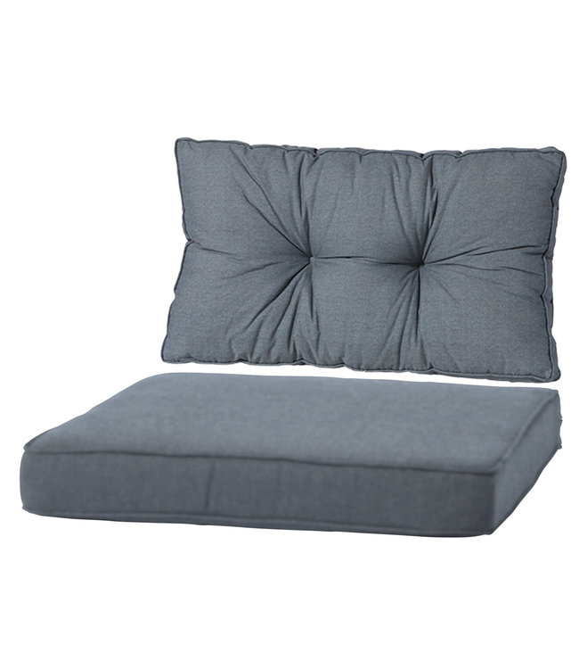 Madison Loungekussen Luxe & florance set 60x60+60x43cm (Basic Grey)