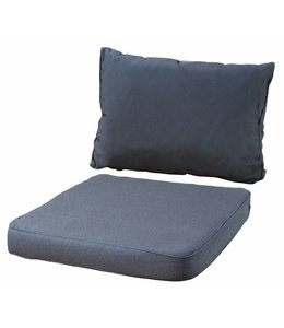 4 SETS Loungekussens Pure Luxe 73x73 + 73x40cm (Panama Grey)