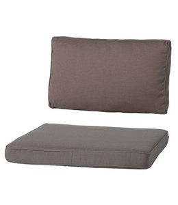 Madison Loungekussen Luxe set 73x73 + 73x40cm (Rib Liver)
