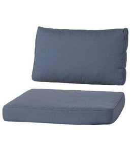 Madison Loungekussen Luxe set 73x73 + 73x40cm (Rib Grey)
