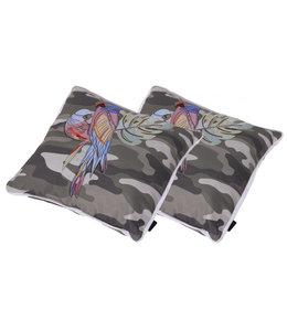 Madison 2 STUKS | Sierkussens Camouflage Embroidery 50x50cm