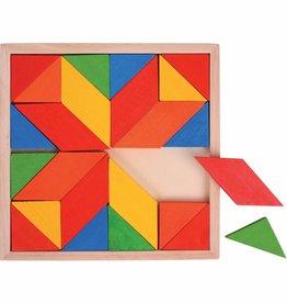 Bigjigs Houten mozaiekpuzzel, 24 delig