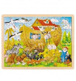 Kidzhout Houten legpuzzel - Ark van Noach