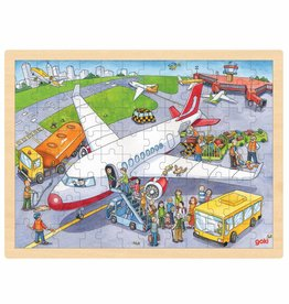 Goki Houten legpuzzel - Vliegveld