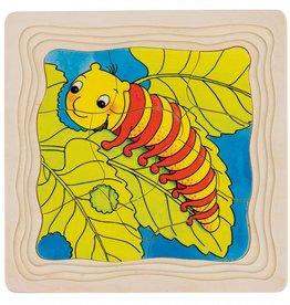 Kidzhout Houten lagenpuzzel - Vlinder