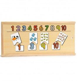 Kidzhout Houten telpuzzel cijfers en dieren
