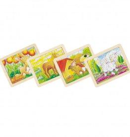 Goki Houten legpuzzels dieren