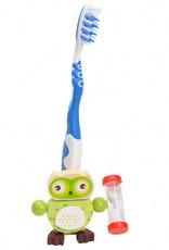 Kidzhout Tandenborstelhouder Uil - Groen
