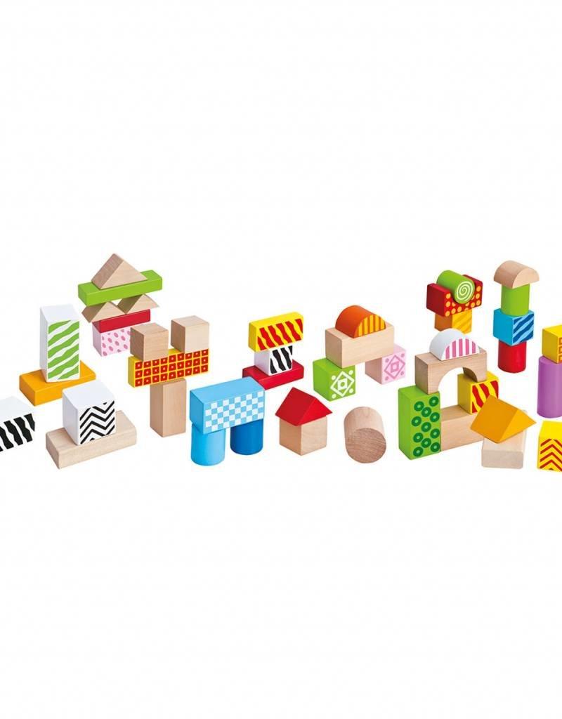 Eichhorn Eichhorn houten blokken in emmer, 50 stuks