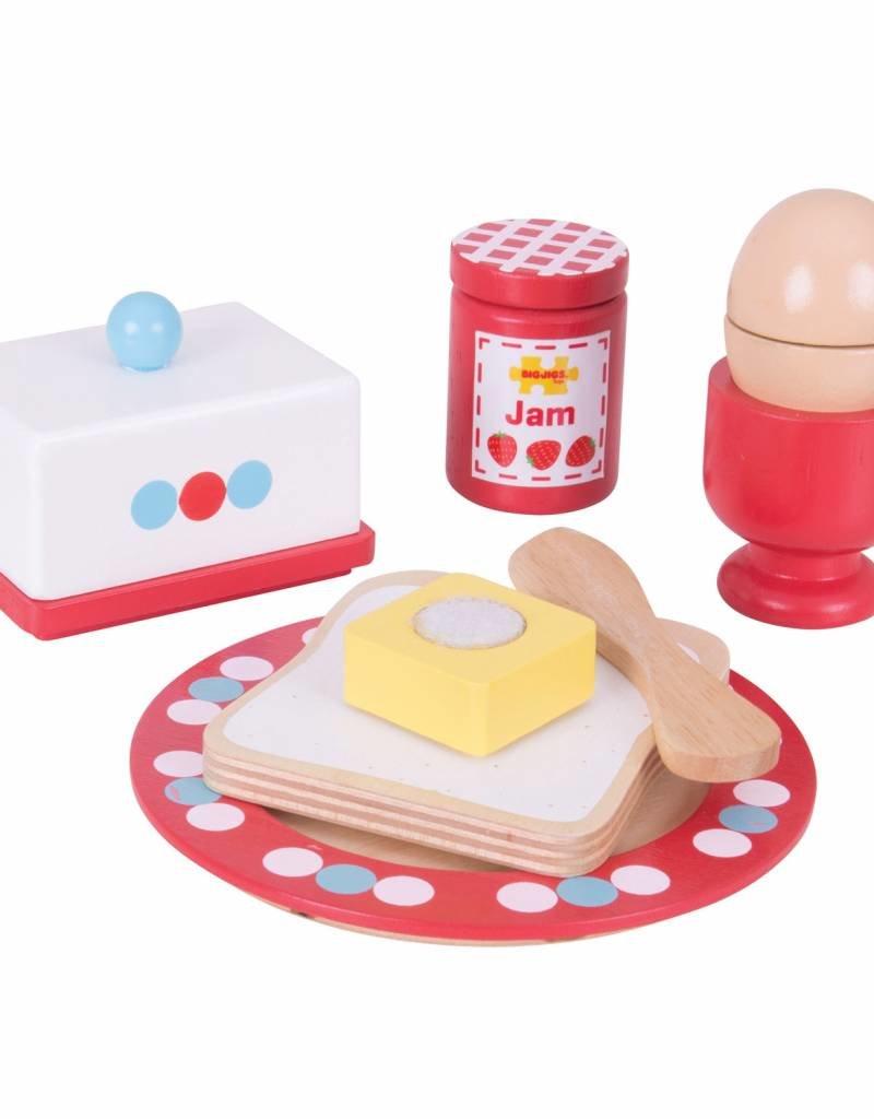 Bigjigs Houten ontbijtset