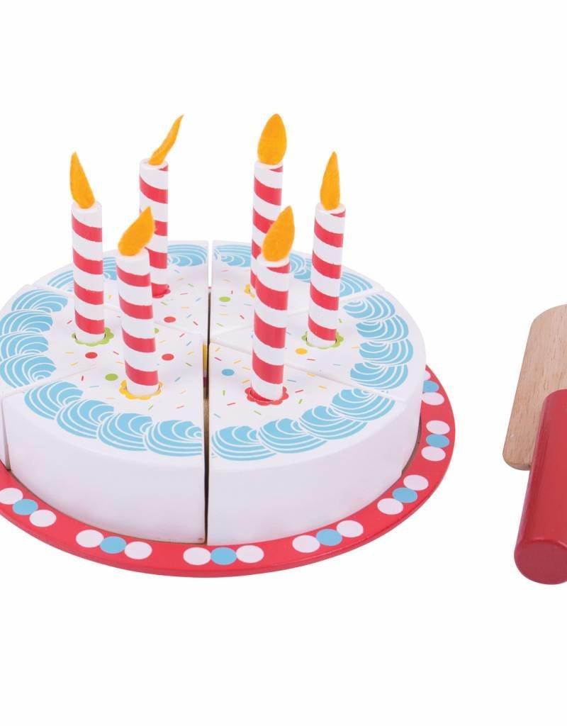 Bigjigs Houten verjaardagstaart