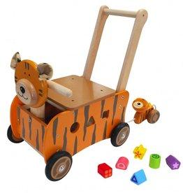 Kidzhout Houten loop- en sorteerwagen