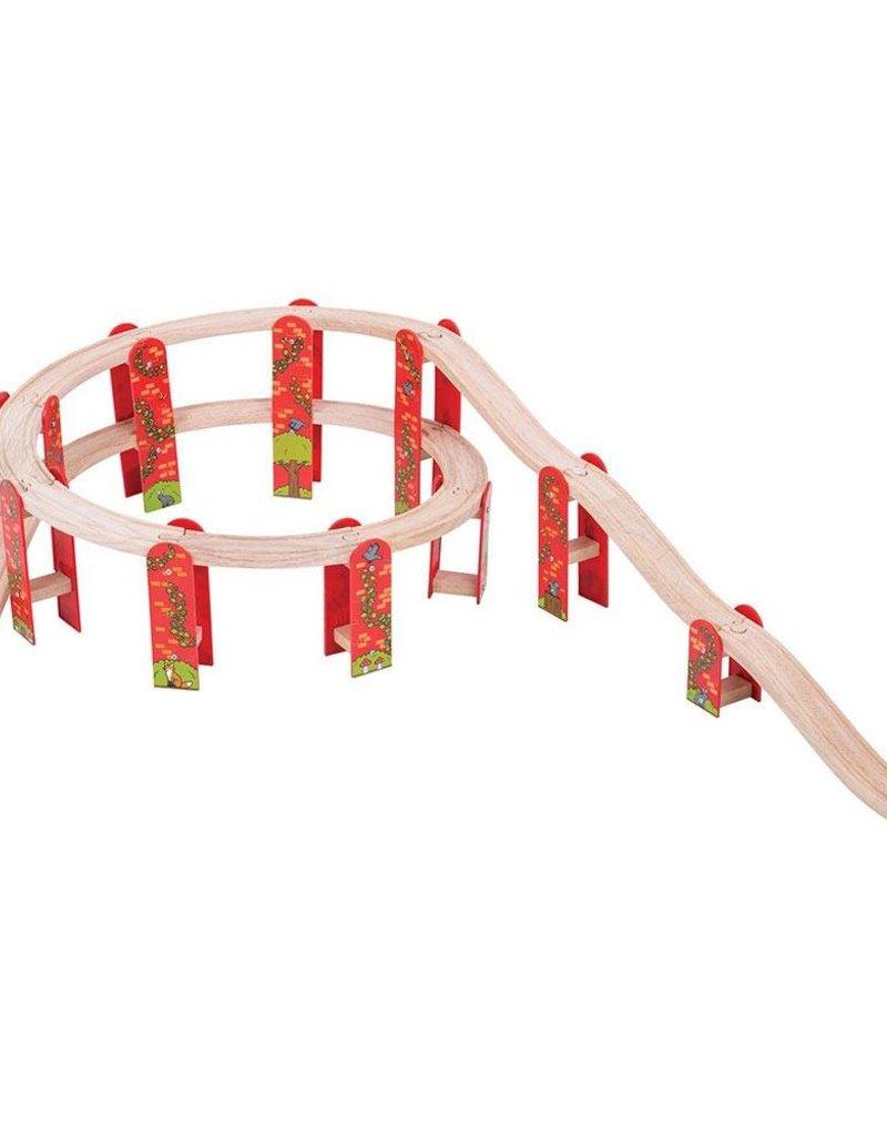 Kidzhout Houten rails viaducht uitbreidingsset 27 delig