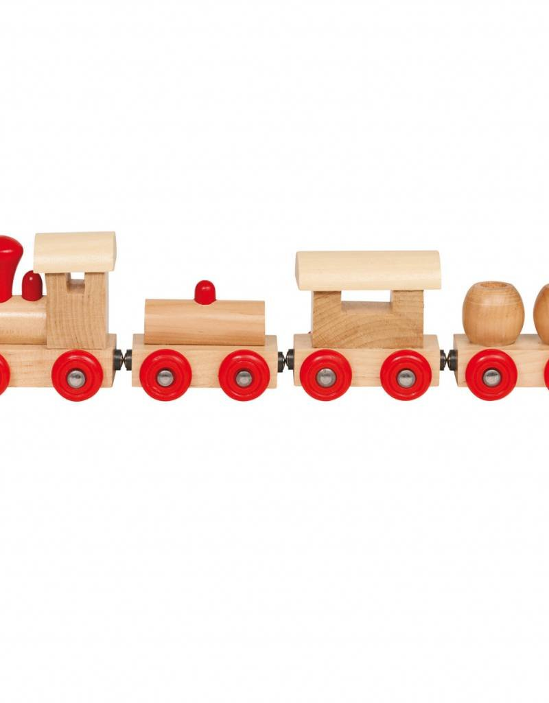 Kidzhout Houten trein met wagons