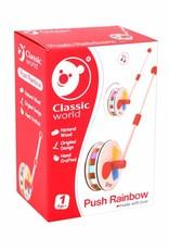 Classic World Classic world houten duwfiguur regenboog wiel