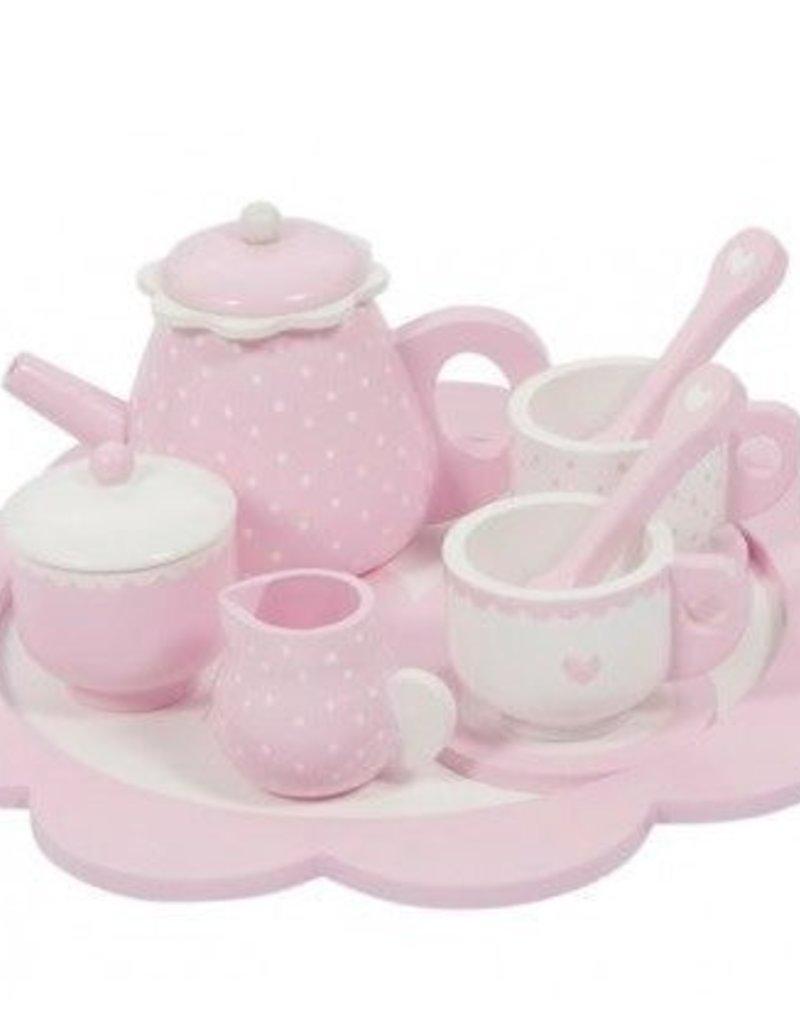 Little Dutch Little Dutch houten theeservies pink