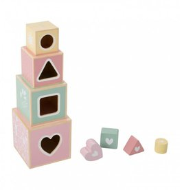 Little Dutch Houten stapelblokken pink