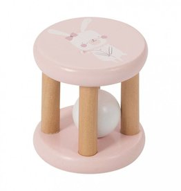 Little Dutch Houten rammelaar roller pink