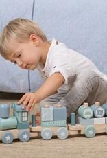 Little Dutch Little Dutch houten blokkentrein blue