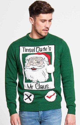 Kersttrui Tinsel Date (S & M) - Heren