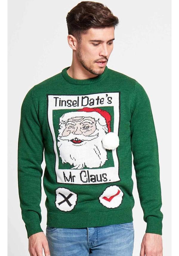 Kersttrui Tinsel Date - Heren