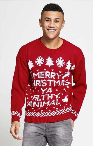 Kersttrui Merry Christmas You Filthy Animal (S & M) - Heren
