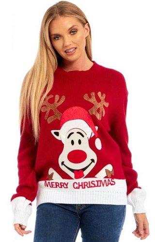 Kersttrui Happy Rudolph