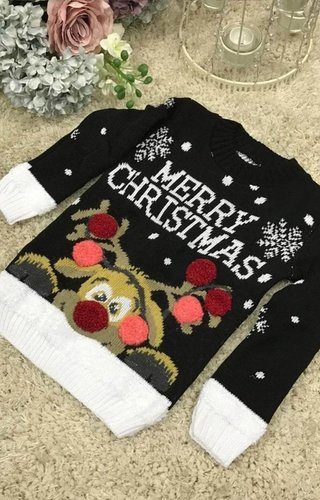 Kersttrui Rudolph Meisjes (3-4 jaar)