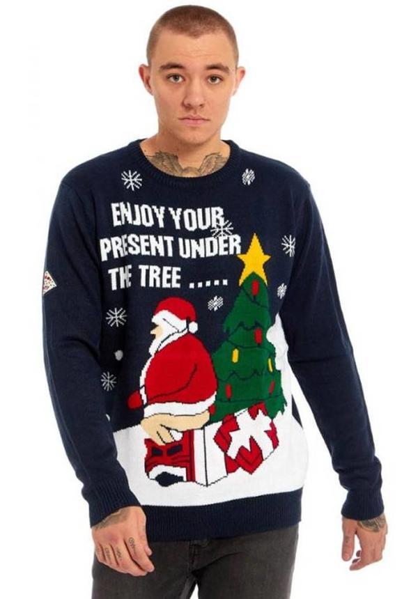 Kersttrui Enjoy Your Present Heren