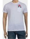 Kerst T-shirt Pinguin Wit - Heren