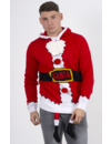 Kersttrui Santa Jas 3d Benen - Heren