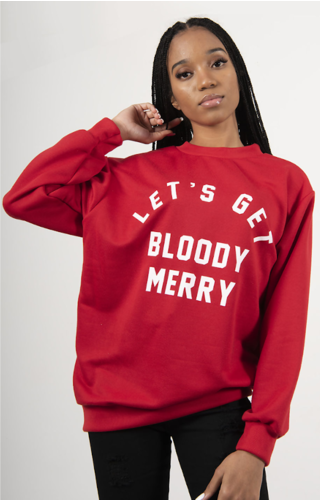 Kersttrui Bloody Merry Rood - Dames