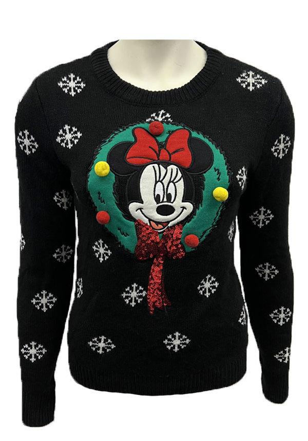 Kersttrui Minnie Mouse 3d Zwart - Dames