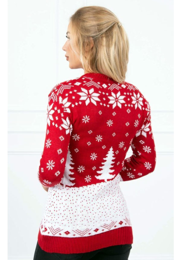 Kersttrui Kabouter Rood - Dames