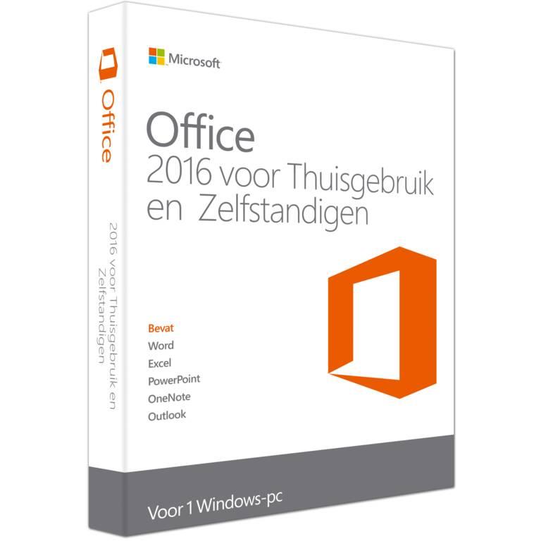Microsoft Office 2016 Thuisgebruik en zelfstandigen Nederlands