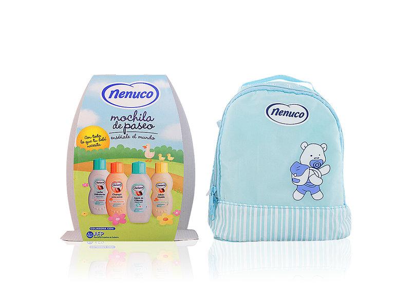 Nenuco Nenuco rugzakje met 4 producten - Blauw